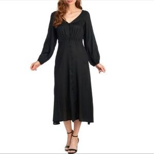 Free People Later Days Strappy Gothic Midi Dress